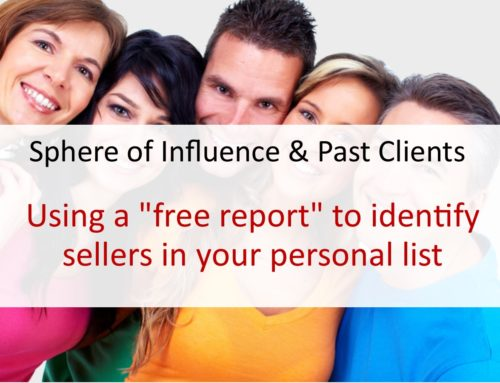"Using a ""free report"" to identify sellers in your personal list"